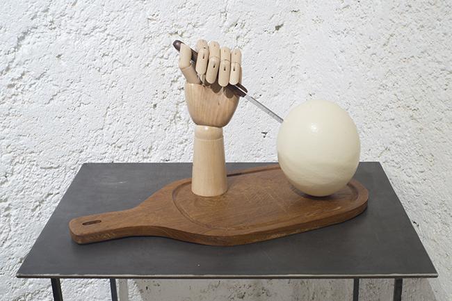 Huevo Duro, 2015  Arte objeto