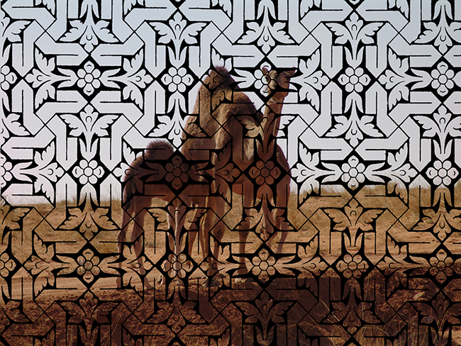Camels Family, 2016  Intervened digital photography  33 x 45 cm