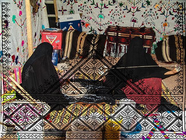 Women Working, 2016  Intervened digital photography  22.5 x 29.5 cm