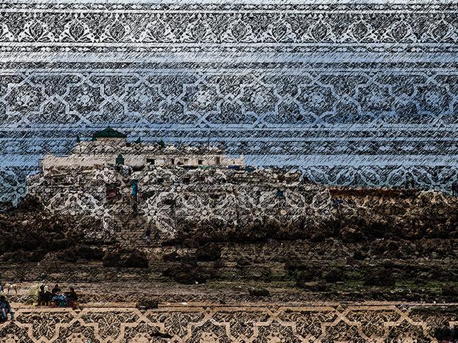 Sand Storms, 2016  Intervened digital photography  16 x 21 cm