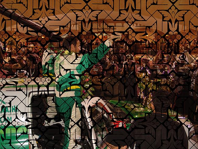 Triunfo de Ralley , 2016  Fotografía Digital Intervenida  Impresa en Acrílico Por Emulsión  40 x 30 cm  Impresa en C-Print en Papel Metálico  40 x 29.8 cm