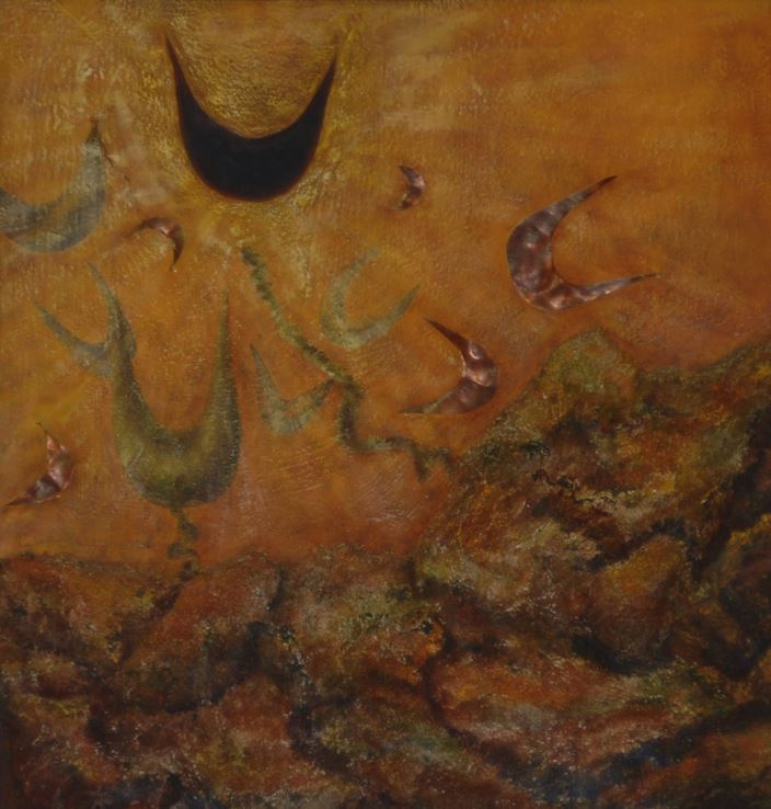 Sirenas, 2002  Técnica mixta  60 x 57 cm