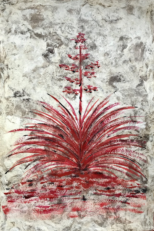 2017  Mixed technique on amate paper  58 x 39 cm