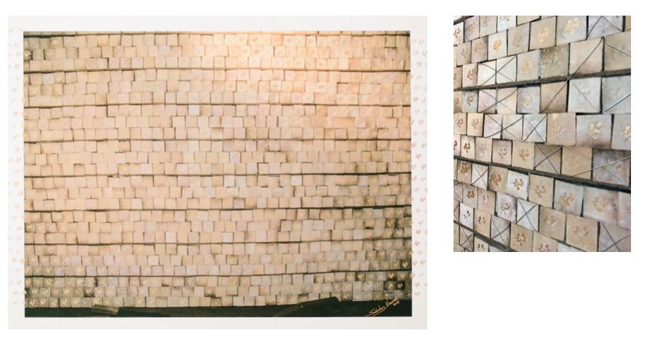 Fábrica de Jabón , 2017  Giclée imagen digital sobre lienzo intervenida  74.7 x 98.4 cm
