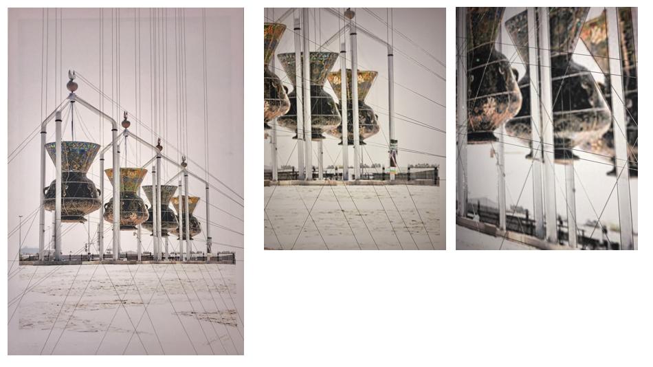 Punto de Fuga , 2016  Giclée imagen digital sobre lienzo intervenida  97 x 66 cm