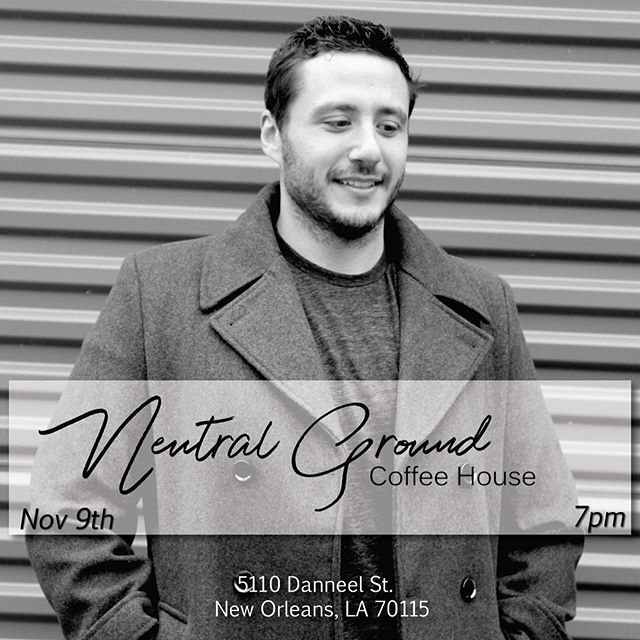 Join me for an intimate acoustic set and coffee vibes in New Orleans 😎☕ . I'll be doing Magnus songs acoustic from 7-8pm at The Neutral Ground November 9th at 7pm! (a Friday night)