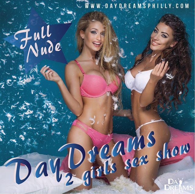 D A Y D R E A M S  2 G I R L S S E X | S H O W  Do you know what's even better than your Dream Girl giving you a dance?  Two Dream Girls playing out your wildest fantasies with a Full-Nude Live Sex Show!  What are you waiting for? Book one of our Famous Girl-on-Girl shows Tonight! Double the girls, Double the pleasure, Double the fun!  We will see you then 😘😘😘 #philadelphianightlife #nightlife #phillyclub #daydreamsphilly #twogirlssexshow #bestsexshow