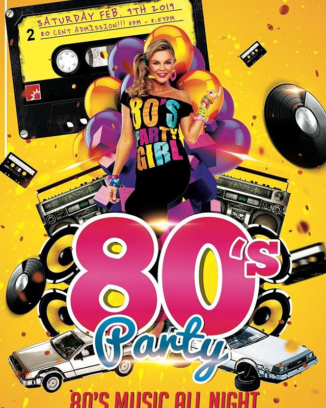 Big hair, neon clothes, leg warmers and great music.... ahhh the 80s. Come join us at Daydreams for this throwback on Saturday, February 9, 2019. Free admission with 80s attire. 80 cent admission from 8-8:59pm #80sdrinks #retro #beautifulwomen #vintage #girlsjustwannahavefun #80smusic