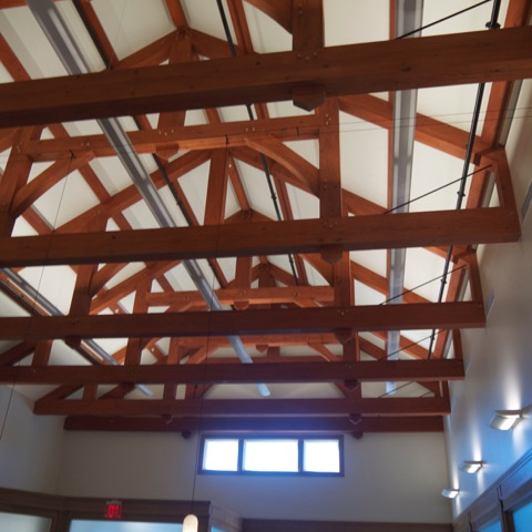 Interior Timber Frame in Lobby
