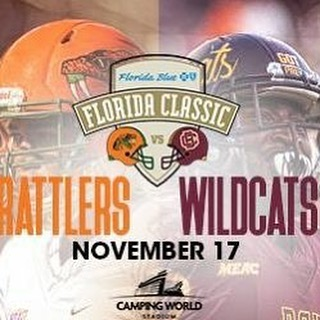The Florida Blue Florida Classic is one of the numerous experiences that Wildcats & Floridians have to look forward to this fall! Comment #HailWildcats + your score predictions  so we can go for yet another win! Tickets are available for purchase at @ticketmaster or the B-CU box office.