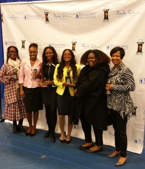 (Pictured from left to right:Dr. Bridgett Rahim-Williams, Ashlyn Denson, Terraka Streeter, Melnetra Williams, LaVencia Walker, and Dr. Claudette McFadden)