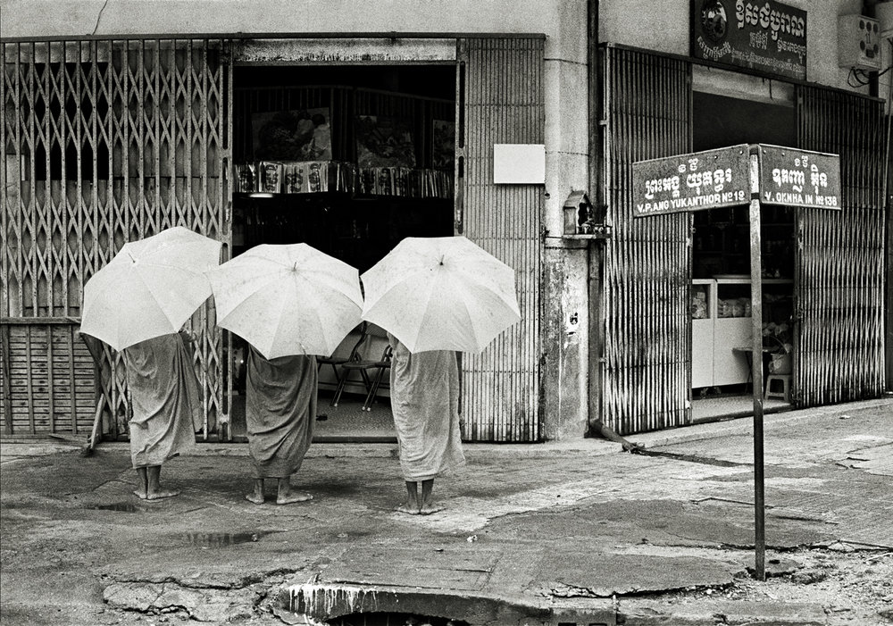 Buddhist Monks at Dawn, Phnom Penh, Cambodia 1997