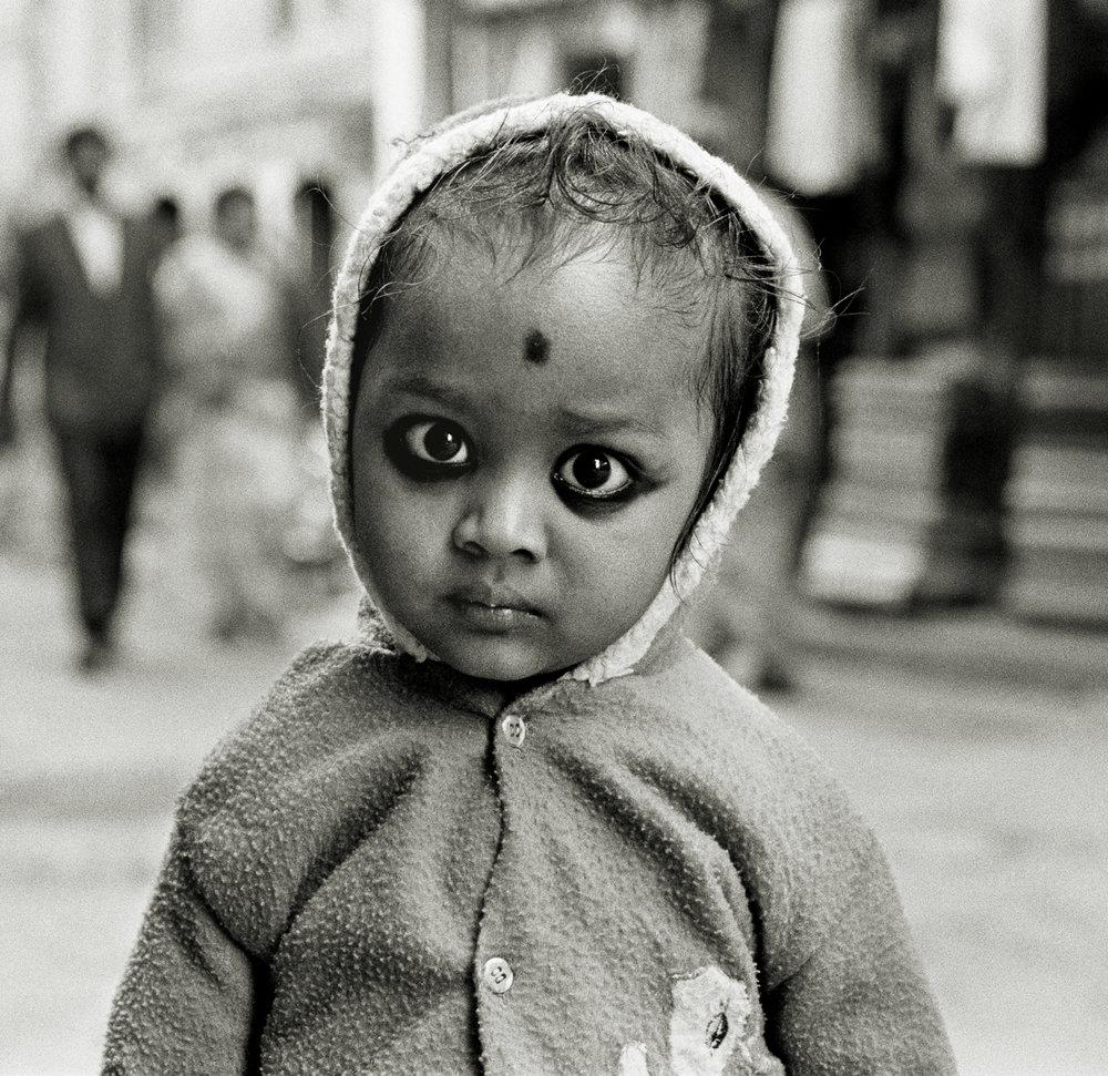 Child with Charcoal Eyes, Kathmandu, Nepal 1997