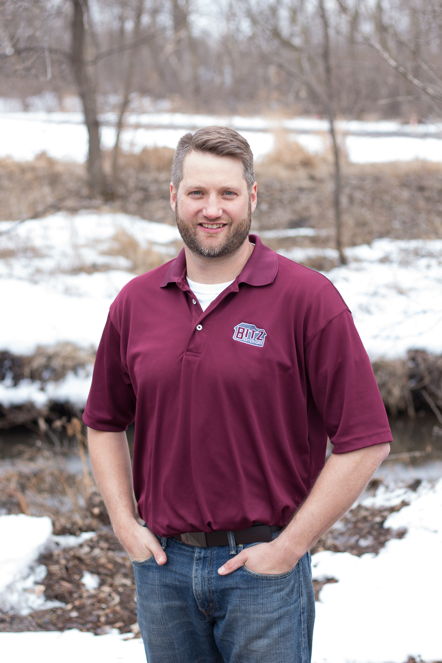 Josh Bitz, Owner - Carrying on the family legacy, Josh comes from a long line of construction contractors. Josh's dad is an electrician and has uncles in the plumbing and siding industries. After earning a degree in Mechanical Engineering, Josh cut his teeth in construction by working for his uncle's siding business in the sales department. Josh gained the knowledge and experience that prepared him to serve you today by working summers in college and full-time after graduation. Josh has been recognized for quality and service with a Most Satisfied Customer Award from Window Concepts and Readers Choice awards in both Maple Grove and Champlin.
