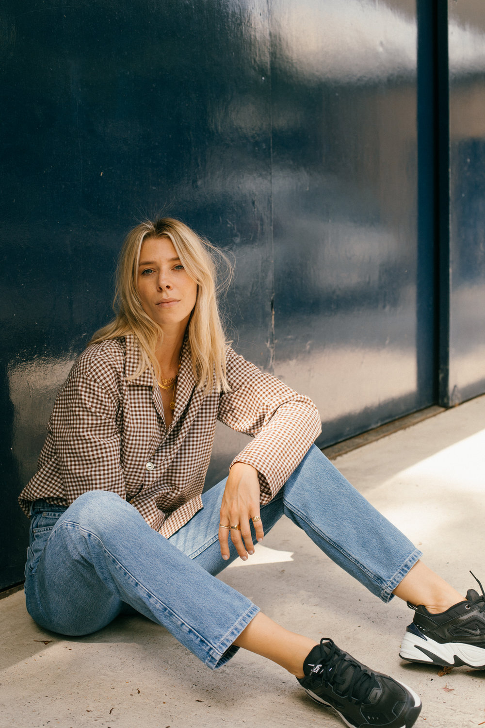 The key is, to either go girly long length dress a la the Danish girls, mini skirt, or, good old denim and an oversized shirt. -
