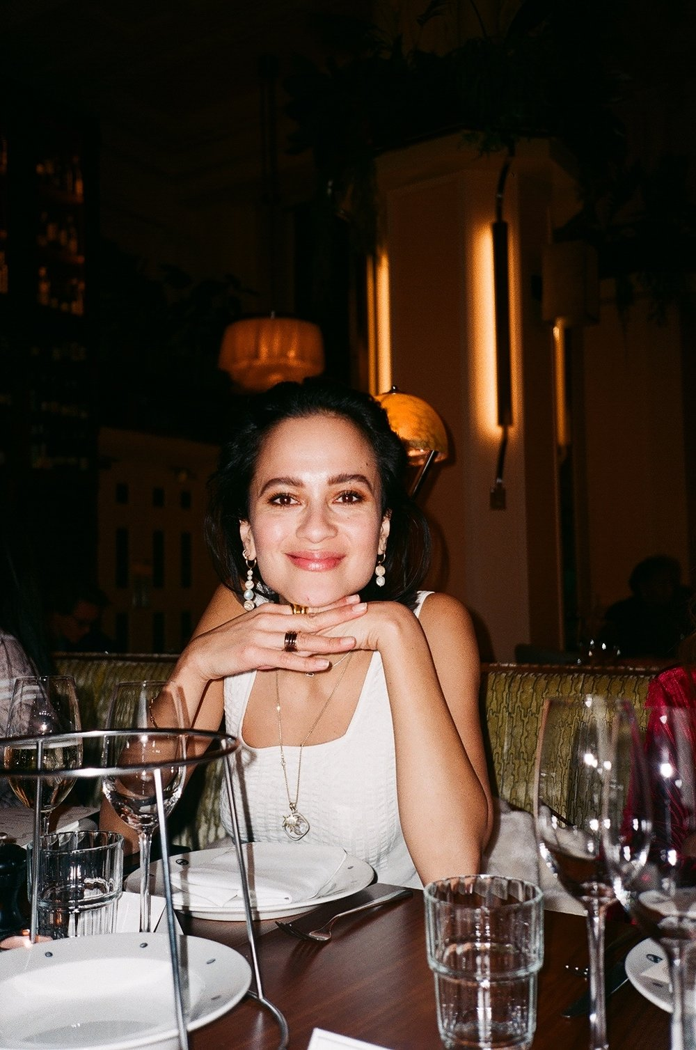 - \my gorgeous pal Anna at the Purple PR LFW dinner