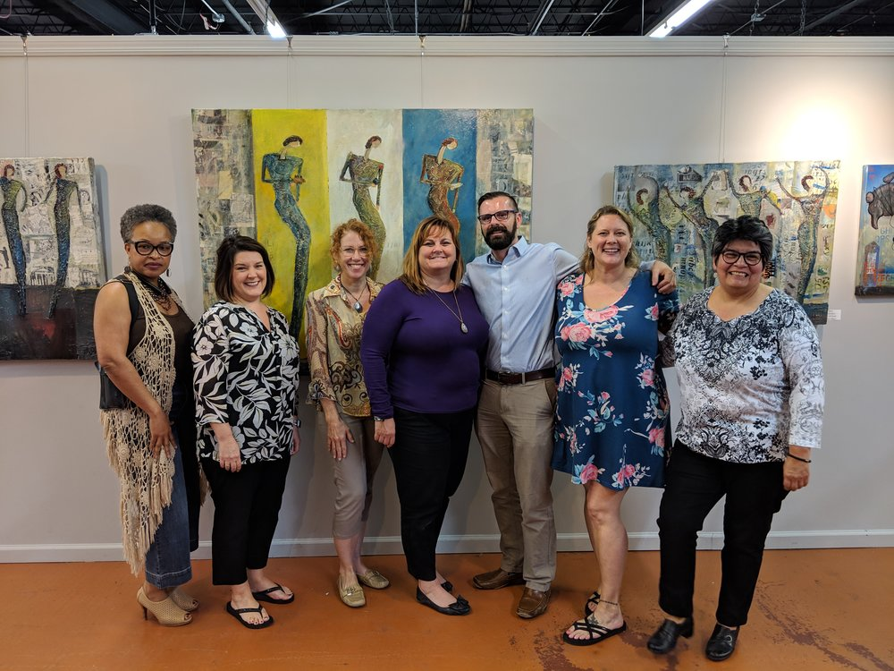 BOD Meet and Greet, Feb. 21, 2019. Left to Right. Vonda Parker, Amie Richason, Wanda Keegan, Joanie Smalley, Chad Peck, Danielle Parker and Tracey Samples.