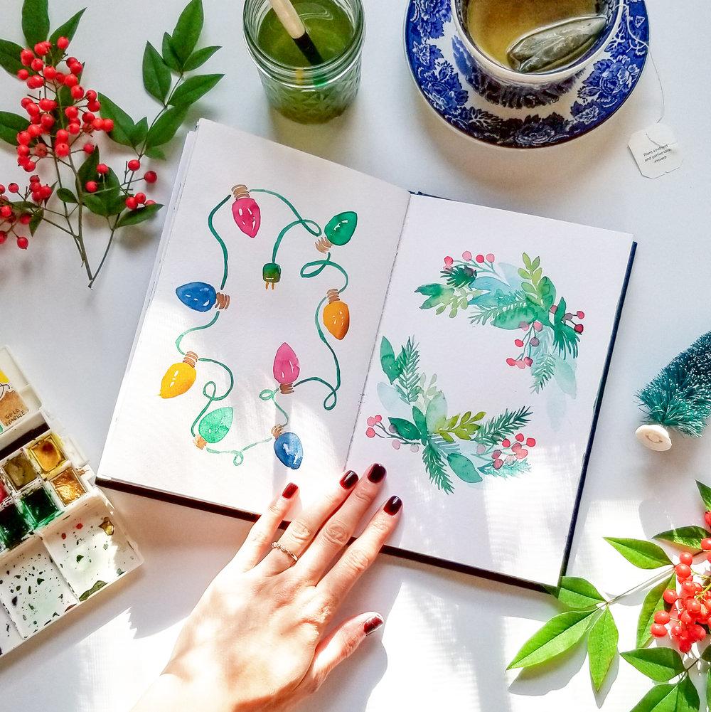 The Semi-Minimalist No Spend November Watercolor.jpg