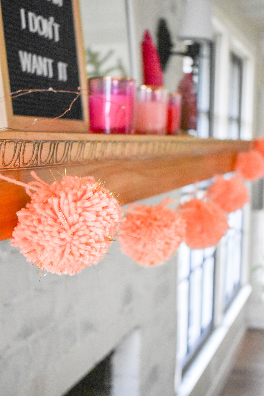 The Semi-Minimalist Peach Garland Valentine's