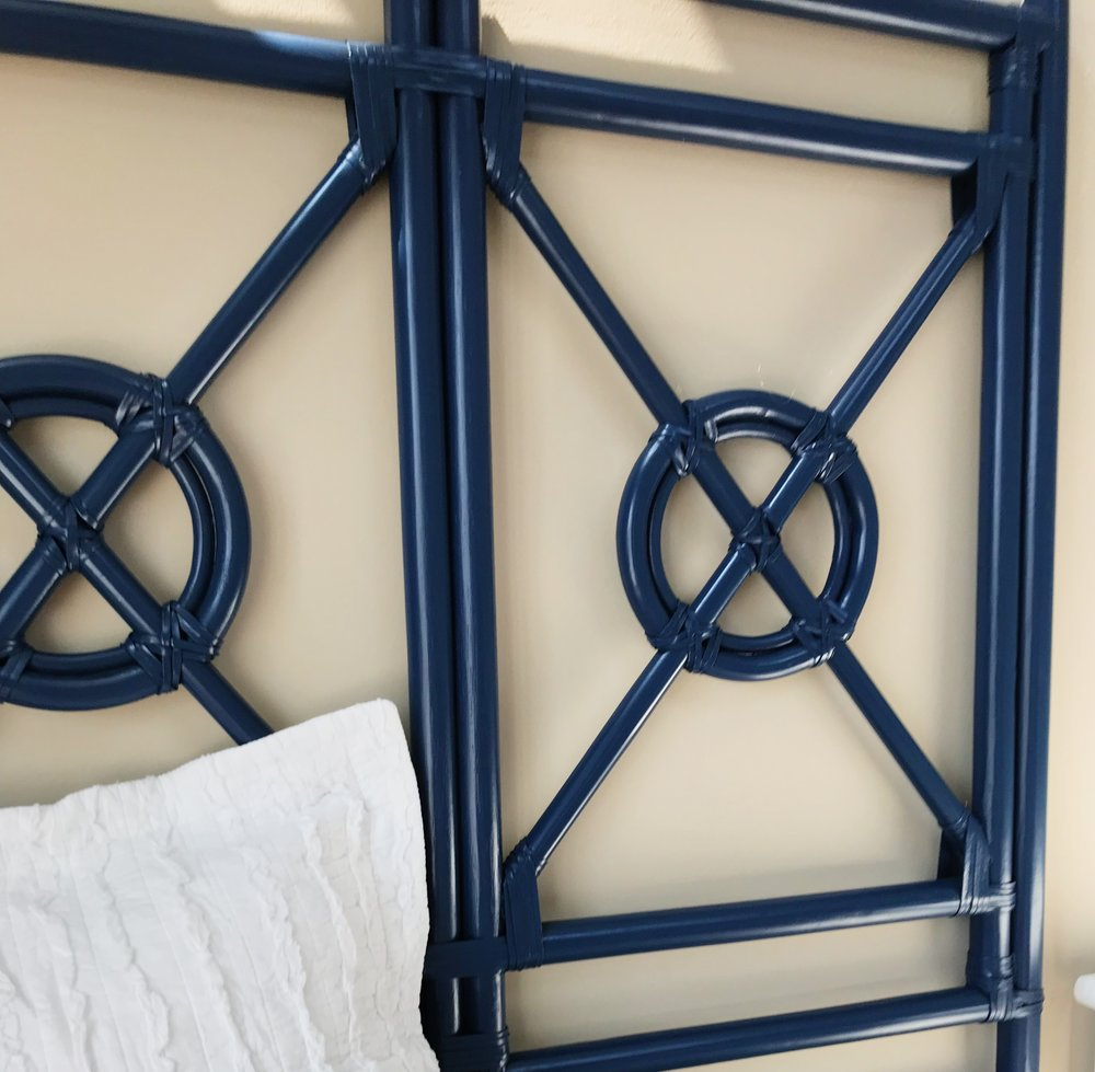 We chose specific pieces to be nautical without being over the top. These headboards are examples of that