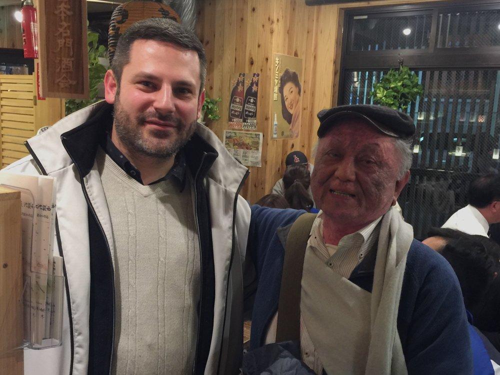 Invited to supper with Seiichi Nakazato,  Gendai Guitar Magazine editor for over 40 years,Tokyo, Japan, 2017