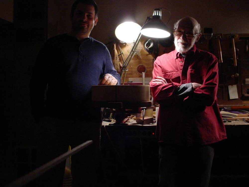Spending some time with legendary Eugene Clark in his workshop in Tacoma, WA, 2009