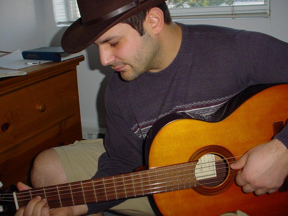 My first guitar, Jerusalem, 2004