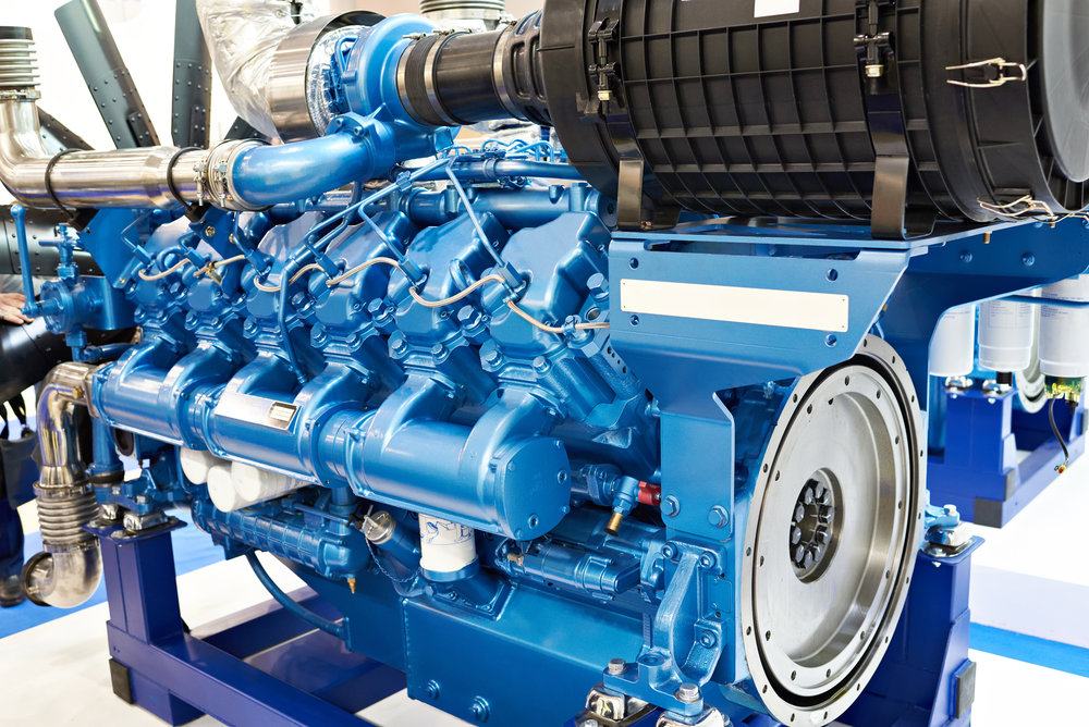 12 Cylinder Diesel Engine