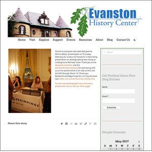 EVANSTON HISTORY CENTER   February 24, 2017
