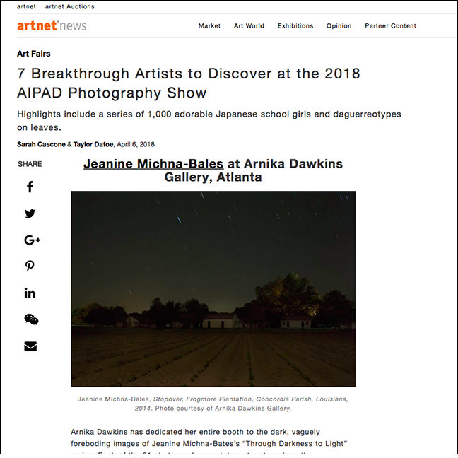 ARTNET NEWS   By Sarah Cascone & Taylor Dafoe April 6, 2018