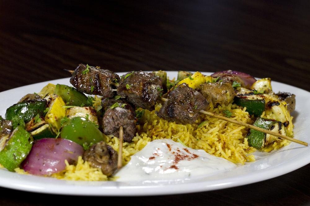 Beef Kebab Platter