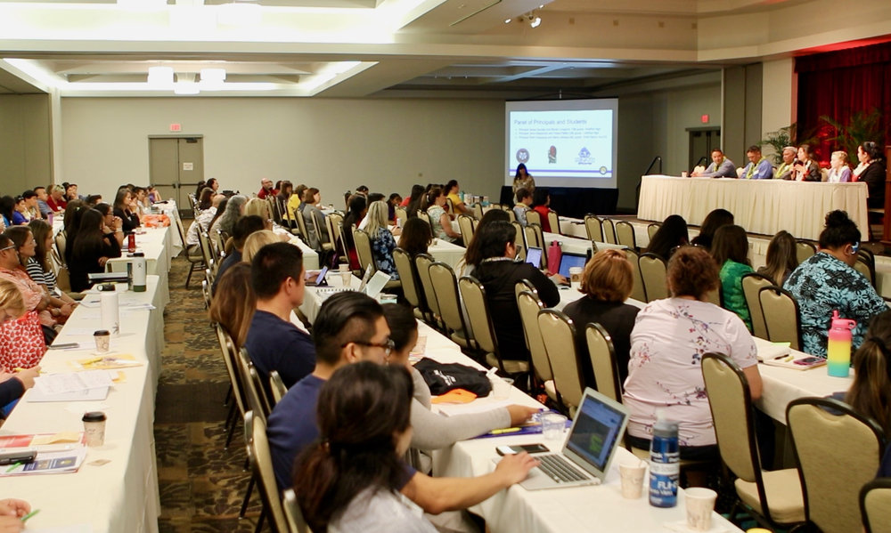 More than 220 participants from our public schools and military partners attended the conference.