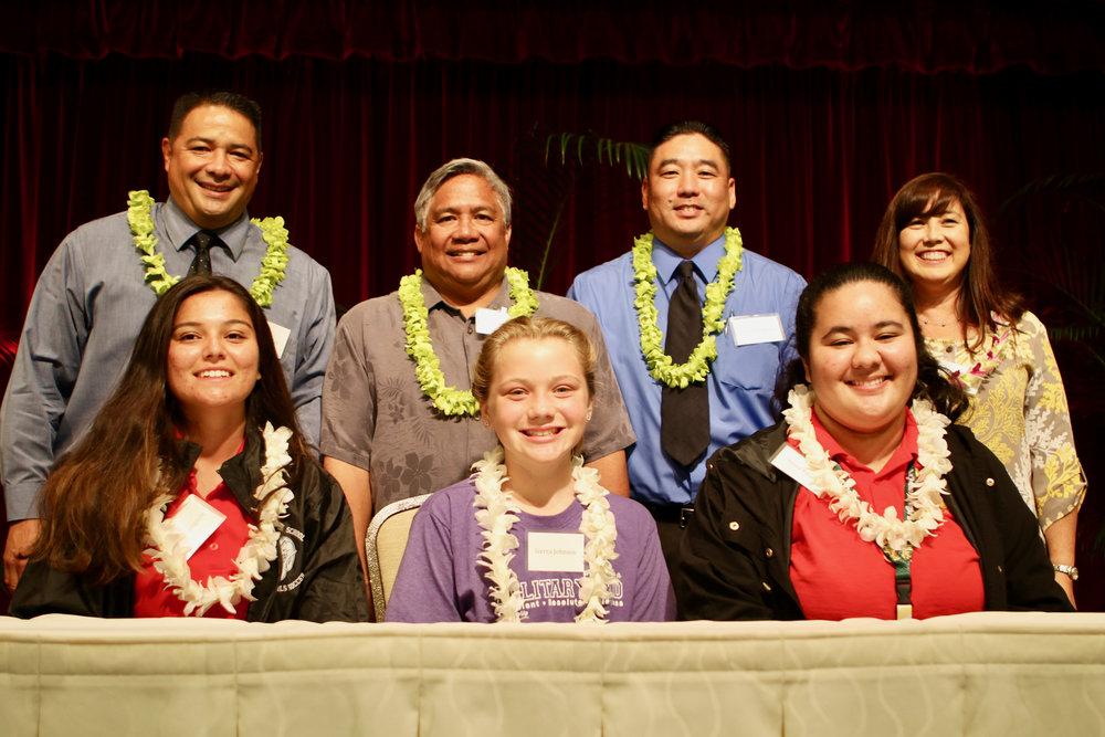 Administrators and Students Panel: Leilehua High School, Radford High School, and Pearl Harbor Kai Elementary School.