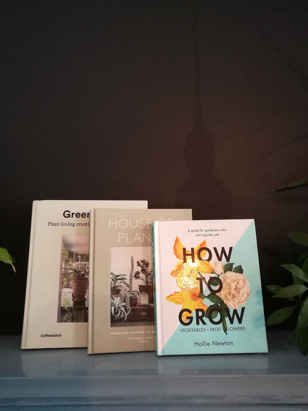 Books - A selection of books about plants, growing and interior design.