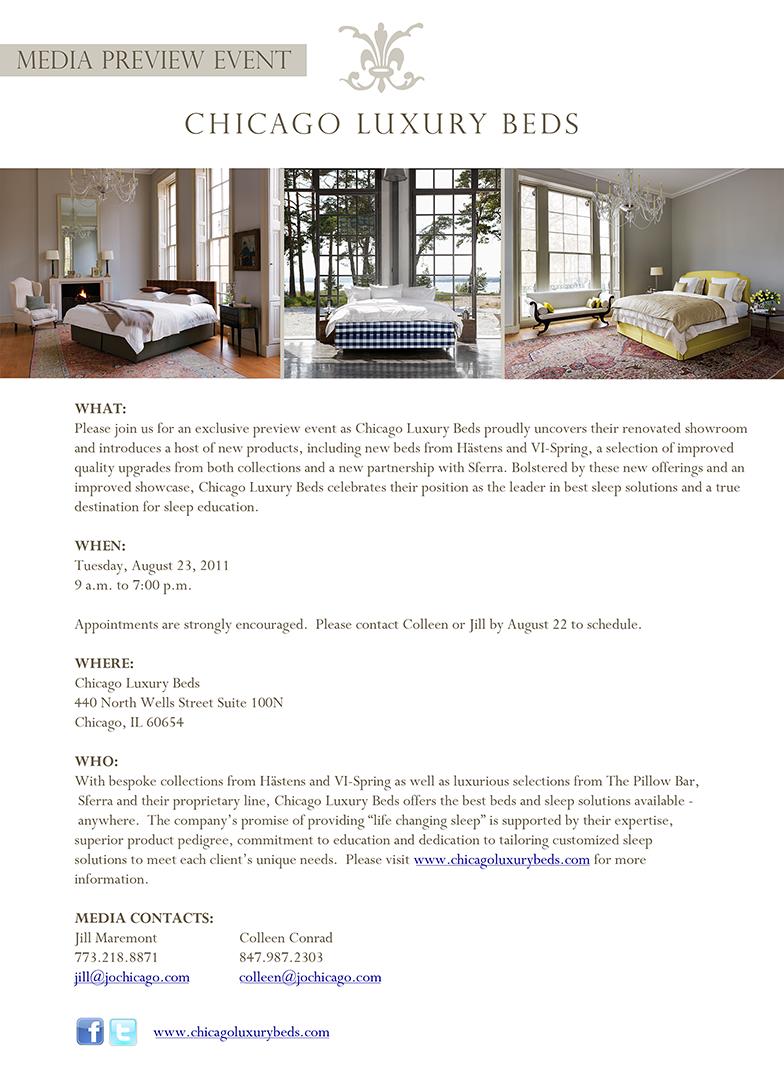 Chicago Luxury Beds | Media Alert