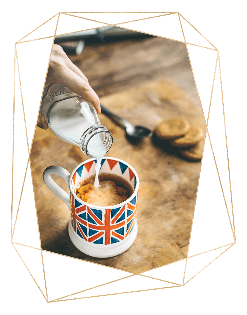 Cup of tea, darling? - My heritage is half British…My father was English so I was educated in the land of endless cups of tea, grey skies & drizzle, picture-perfect villages, lush green gardens, Monty Python and an addiction to saying 'sorry'…