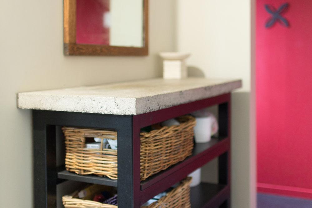 Vanity &Shelves - Matching bathroom pieces.