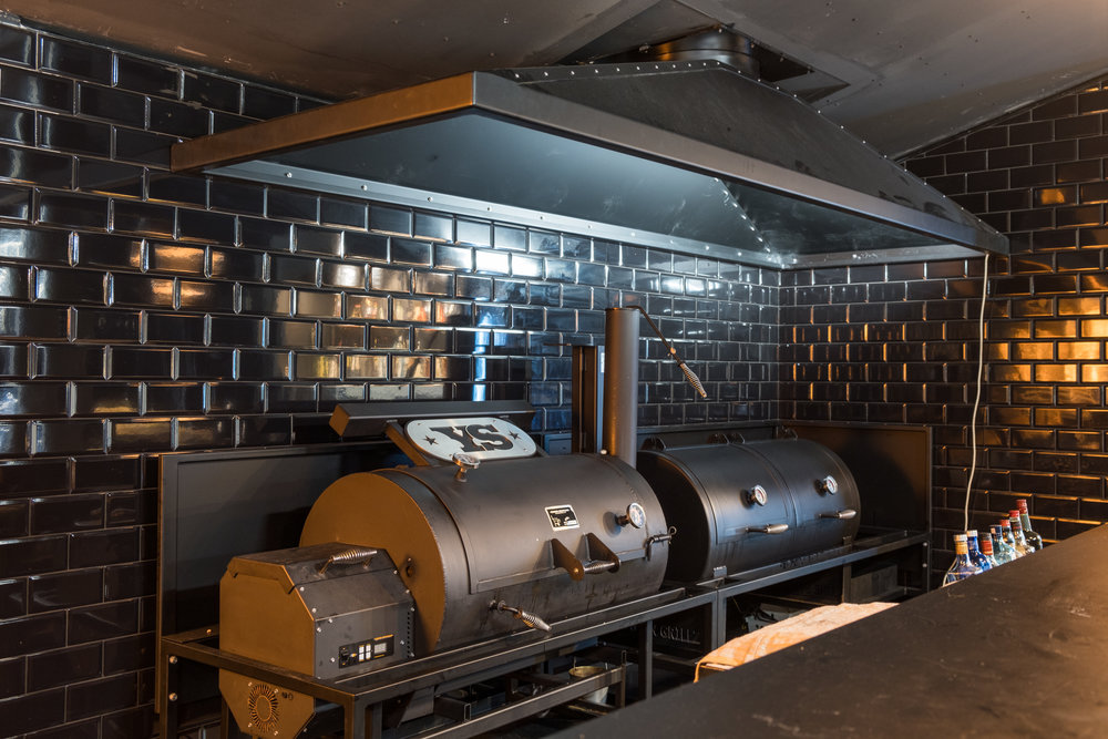 Totara Street - Range hood and trolleys for a smoker and grill