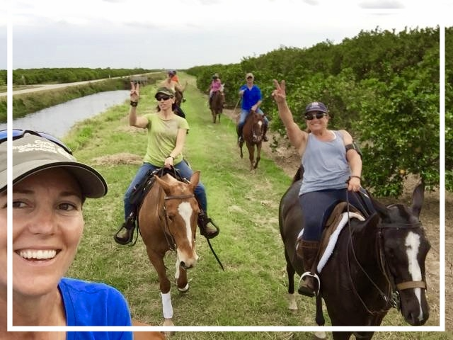Jaymie's trail rides  - are very well planned and organized down to the last detail!! The wonderful trail ride through the orange groves while they were blossoming was breathtaking!! This was a true Florida experience that you cannot get anywhere else, and the smell of these flowers were heavenly. Jaymie's horses are all exceptional and safe for all ages and different levels of riding. Our picnics after the trail rides were wonderfully organized with fabulous appetizers, salads, and gourmet sandwiches that satisfied everyone's tastes – she even had vegan and vegetarian choices! I highly recommend this👍~Tammy Wyman