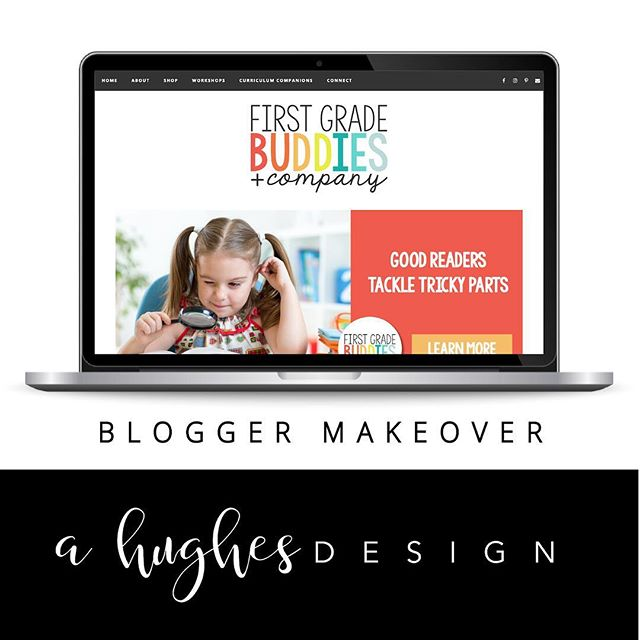 Tamra and Sarah wanted to freshen up their branding and give their blog a new look.  I have to say it's been one of my favorites. 🧡 The colors, clean lines, and simplicity.  Check them out at firstgradebuddies.com and if you're wanting to give your old blog design the boot, let me know. 😘 #ahughesdesign #blogmakeover #blogspot #graphicdesign #firstgradebuddies @firstgradebuddies