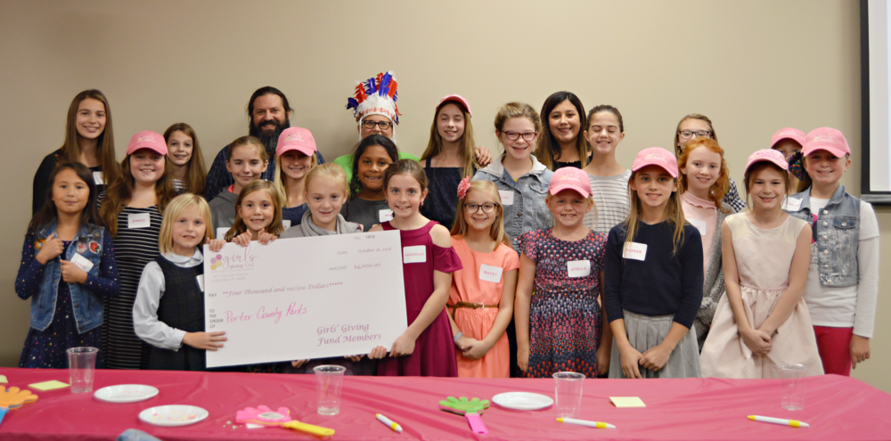 Members of the Girls' Giving Fund awarded their first-ever grant to the Porter County Parks Department at their inaugural grant celebration event.