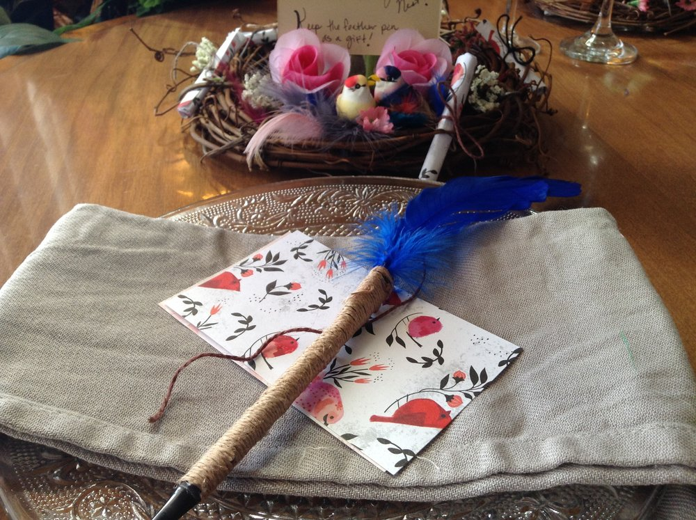 Check out my blog on how to make these Corded Feather Pens!