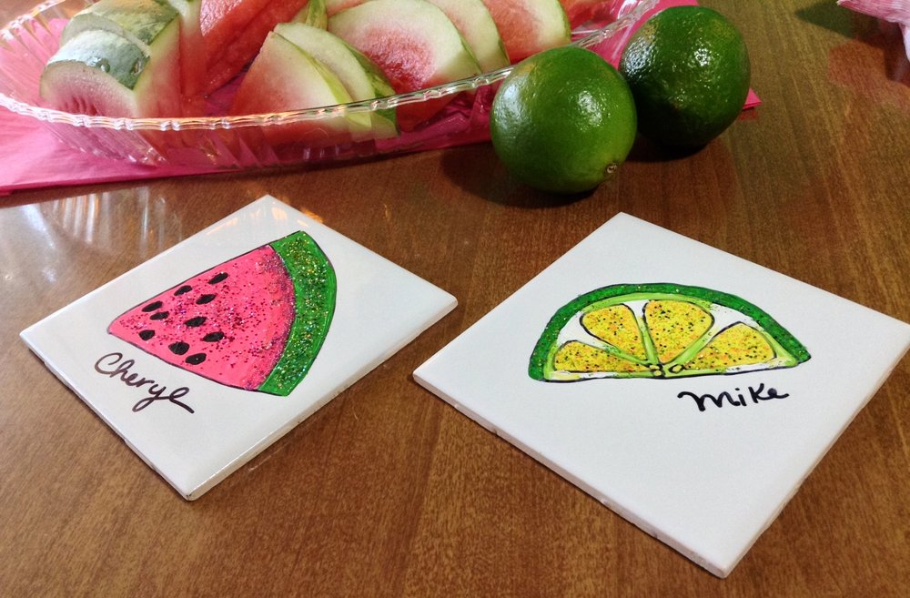 DIY Watermelon & Lime Coasters