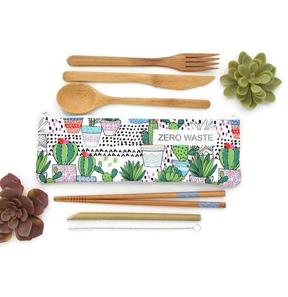 eco friendly bamboo reusable cutlery