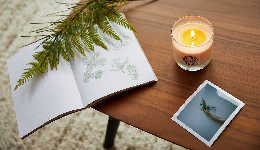 Give a thoughtful  hostess gift  with a sustainable candle subscription from Brooklyn based brand Keap.