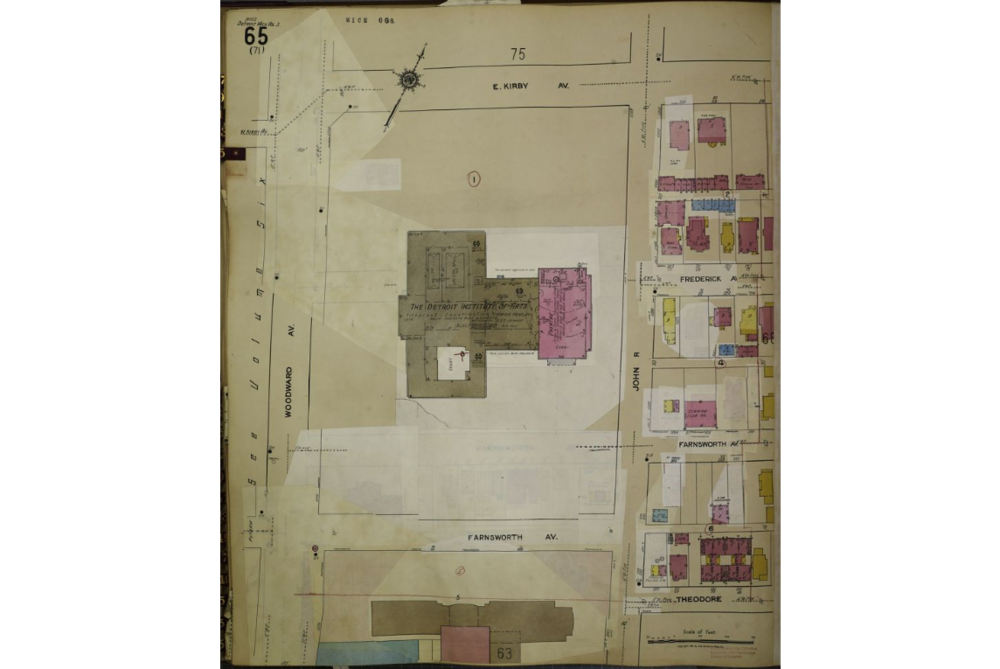 Historical Data Map: Detroit Institute of Arts