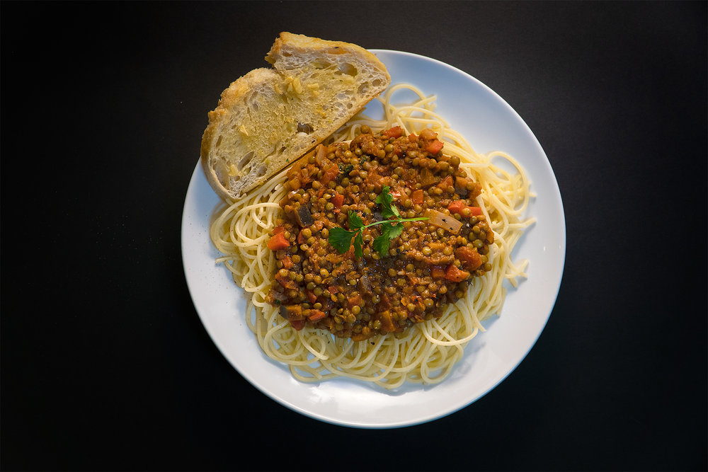 A beautiful and clever Italian-inspired pasta dish by our friend Gytis.