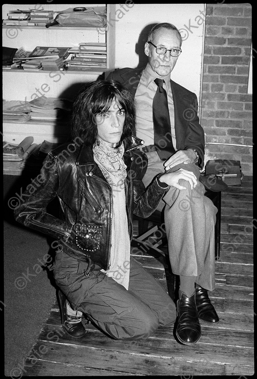 Patti Smith and William S. Burroughs