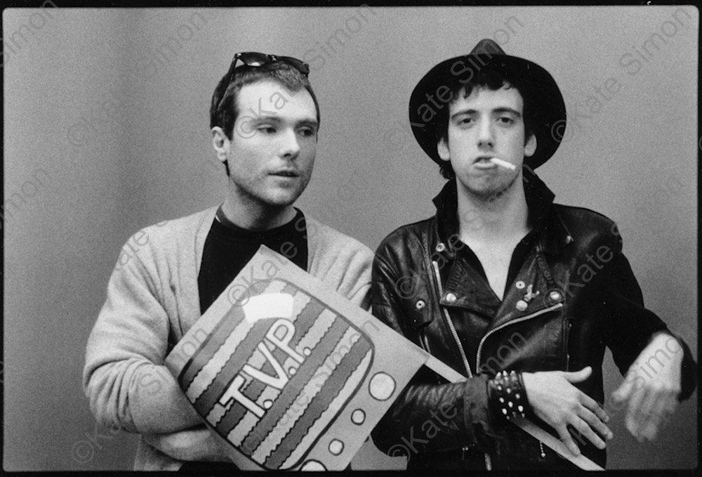 Glenn O'Brien and Mick Jones