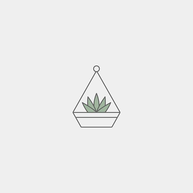 Here's a little terrarium icon featuring a sweet little succulent - a.k.a. my all-time fave greenery (a.k.a. the only form of plant life I manage to keep alive 😆). . . I didn't end up using this icon in the end for the project I created it for, and the final design assets are much bolder, less literal and more conceptual, but I think it's still pretty cute so thought I'd share with you guys! ☺️